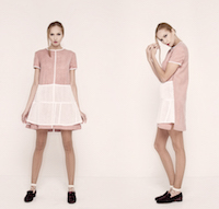 """Dusty pink"" dress A-silhouette. 