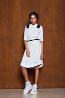 White dress with the apron. | must have | Fashion House IVANOVA - designer clothes