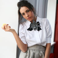 White batiste blouse and poodle skirt | must have | Fashion House IVANOVA - designer clothes