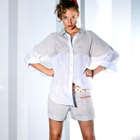 White shirt with beige pane | must have | Fashion House IVANOVA - designer clothes