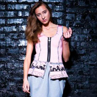 Pink vest with hand-painted  | must have | Fashion House IVANOVA - designer clothes