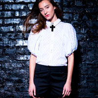 White cambric blouse | must have | Fashion House IVANOVA - designer clothes
