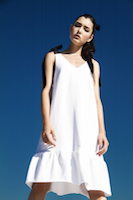 Simple white jersey dress. | must have | Fashion House IVANOVA - designer clothes