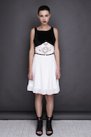 White dress with the black velvet top | must have | Fashion House IVANOVA - designer clothes
